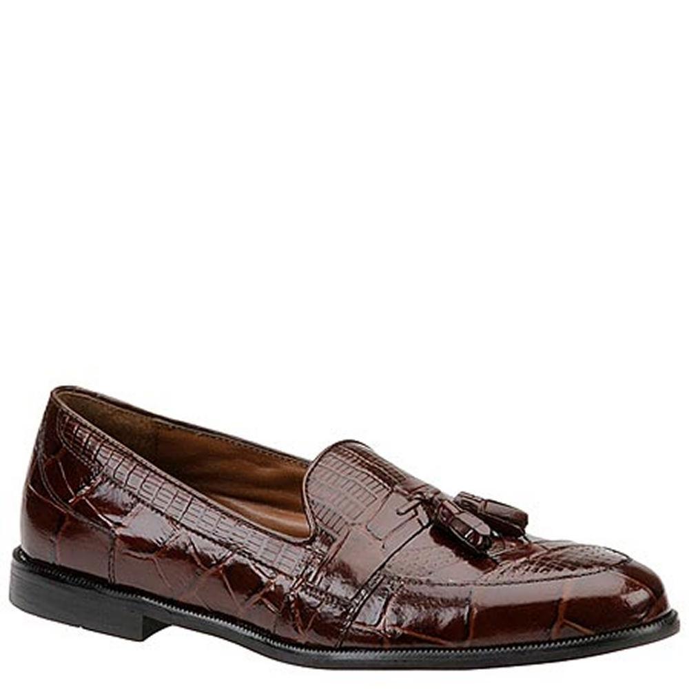 1950s Mens Shoes: Saddle Shoes, Boots, Greaser, Rockabilly Stacy Adams Mens Sabola Tassel Slip-On Brown Slip On 13 W $89.95 AT vintagedancer.com