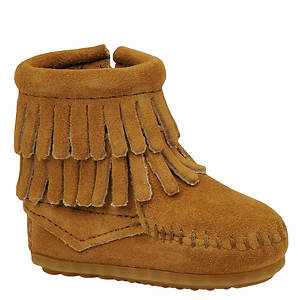 Minnetonka Double Fringe Side Zip Bootie (Girls' Infant-Toddler)
