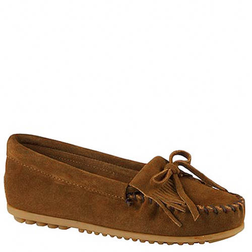 Minnetonka Girls' Kilty Suede Moc (Toddler-Youth)