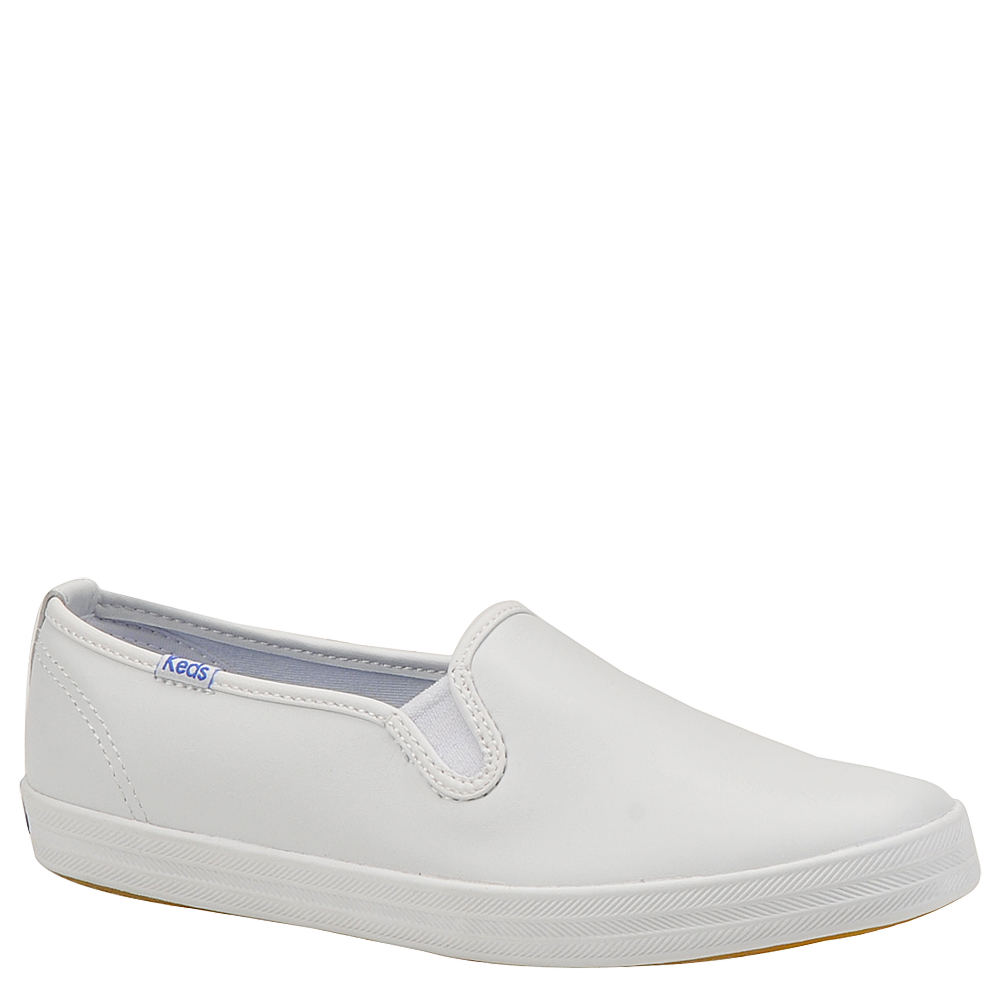 Vintage Sneakers, Retro Designs for Women Keds Womens Champion Leather Slip-On White Slip On 9 B $54.95 AT vintagedancer.com
