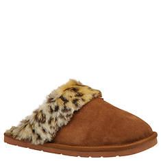 Slippers International Women's Leopard Fluff