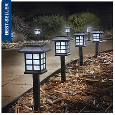 Set of 8 Lantern Plastic Solar Lights