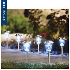 Fluted Solar Path Lights - Set of 6