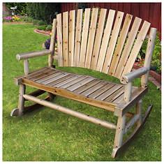 Adirondack Cedar/Fir Log Double Rocking Chair
