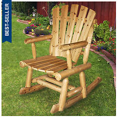 Adirondack Cedar/Fir Log Rocking Chair