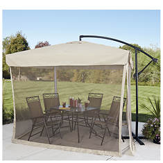 8' X 8' Offset Umbrella with Mosquito Screen