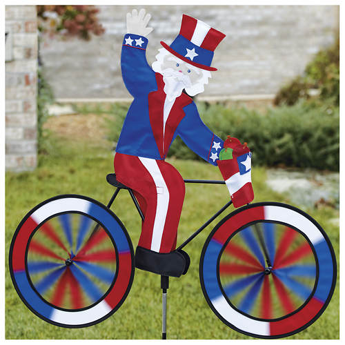 Uncle Sam Bicycle Wind Spinner