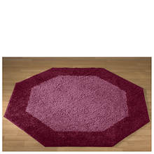 Frisse Shag Octagon Rug-Burgundy
