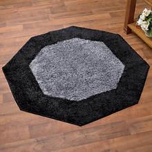 Frisse Shag Octagon Rug-Black