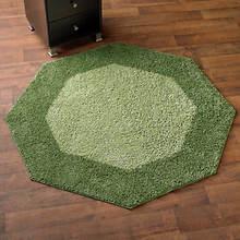 Frisse Shag Octagon Rug-Evergreen