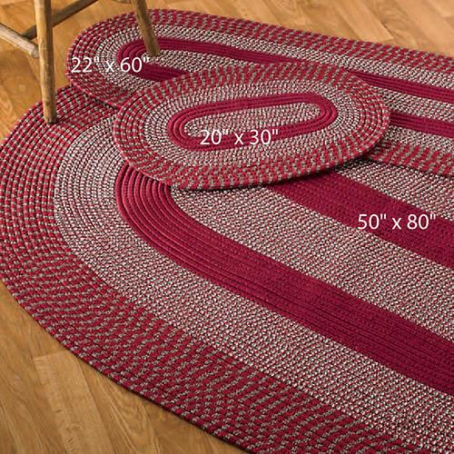 3-Piece Braided Rug Set