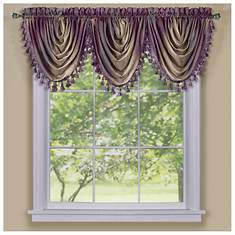 Ombre Tasseled Waterfall Valance 46