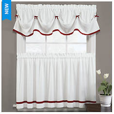 Kate Tiered Curtain - Opened Item