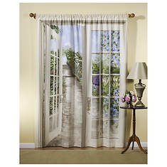 English Garden Art Curtains - Opened Item