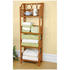 Folding Wicker Shelf