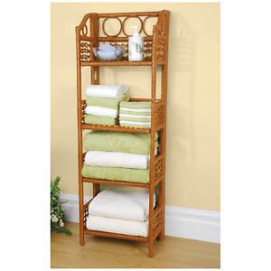 Folding Wicker Shelf