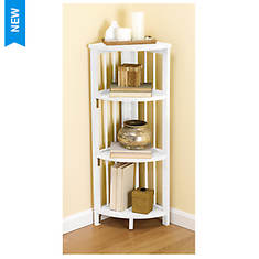 Folding Mission Style Corner Bookcase