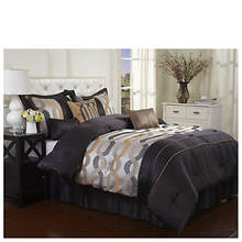 7-Piece Opulence Bed Set With 3 Decorator Pillows