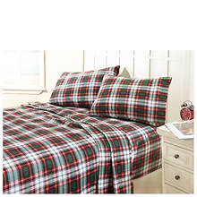 Patterned Flannel Sheet Set