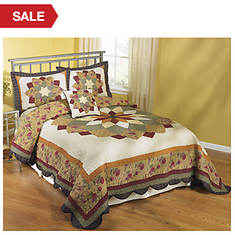 Virginia Waltz Quilted Bedspread