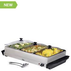 Elite Triple Buffet Server & Warming Tray