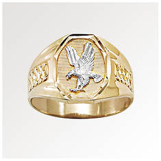 Men's 10K Gold Eagle/Rhodium Ring