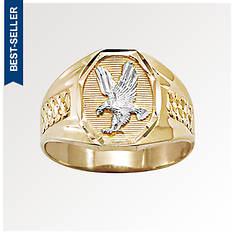 Men's 10K Gold Eagle/Rhodium Ring