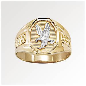 Men's 10K Gold Eagle Ring