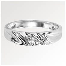 Men's Etched Wedding Band