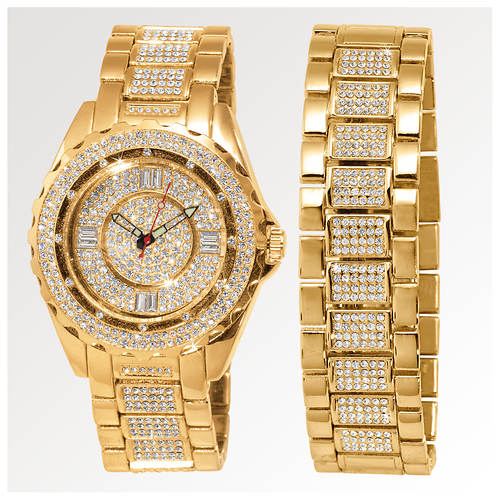 Gold Watch And Bracelet Set Men S