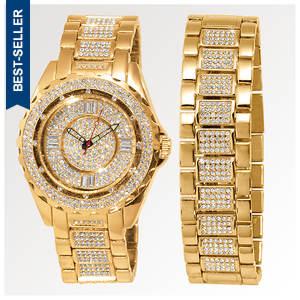 Gold Watch and Bracelet Set (Men's)