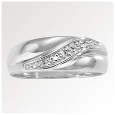 Men's Swirl Diamond Accent Wedding Band