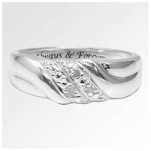 Always & Forever Diamond Swirl Ring