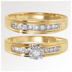 Channel-Set Diamond Wedding Set