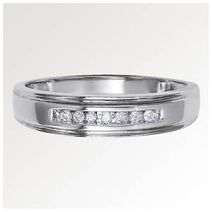 Men's Channel-Set Diamond Wedding Band
