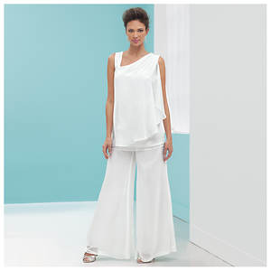 Stacy Adams Chiffon Top & Pant Set