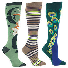 Sock It To Me Women's 3-Pack Exotic Knee High Socks