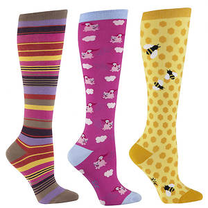 Sock It To Me Women's 3-Pack Farm Friends Knee High Socks