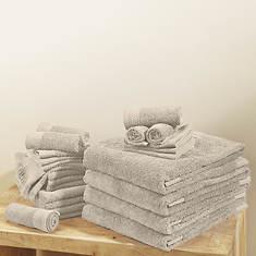 24-Piece Everyday Ringspun Cotton Towel Set
