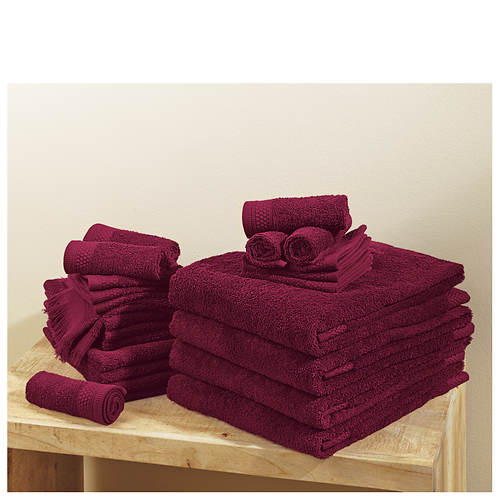 24-Piece Renew Solid Towel Set