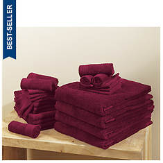 24-Piece Renew Solid Towel Set