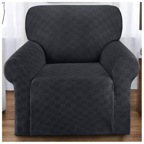 Checkerboard Stretch Slipcover - Chair