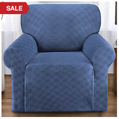Checkerboard Stretch Slipcover - Chair