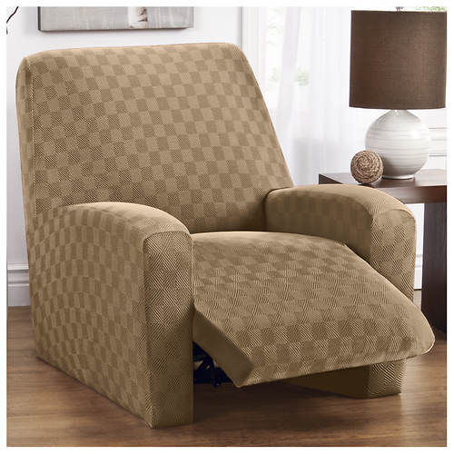 Checkerboard Stretch Slipcover - Recliner
