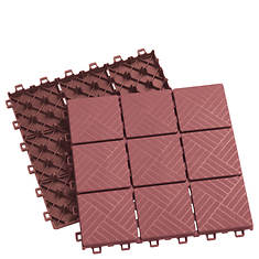 Interlocking Patio Pavers 12-Piece Set