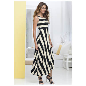Contrast Stripe Dress