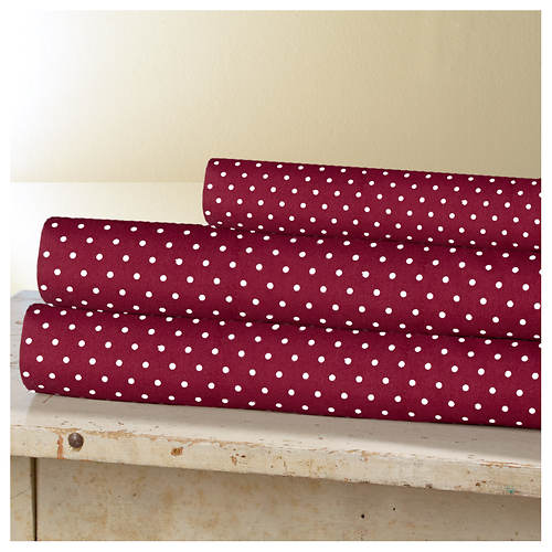 Grand Dot Microfiber Sheet Set