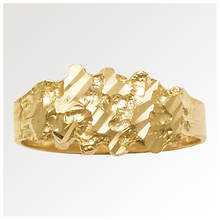 Men's 10K Gold Nugget Ring