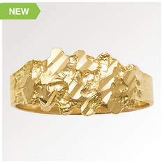 Men's 10K Gold Nugget Ring