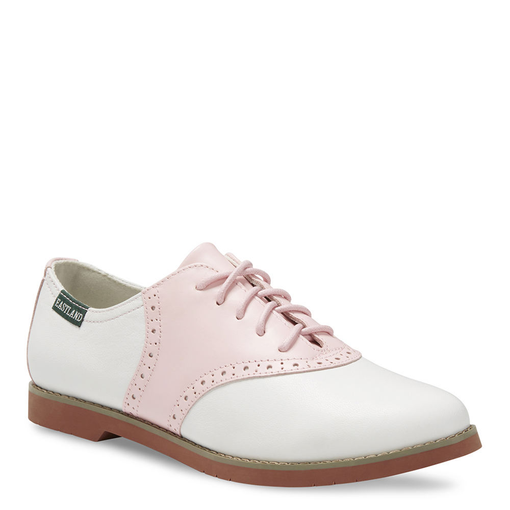 1950s Style Shoes Eastland Sadie Womens Pink Oxford 10 M $84.95 AT vintagedancer.com